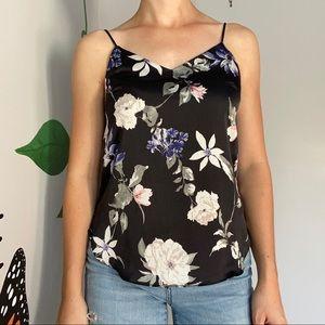 3/20$ Dynamite Black Floral Top Camisole